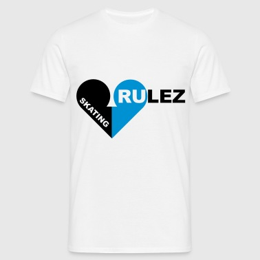 skating rulez 2-colours - T-shirt herr