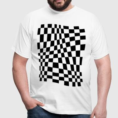 Distorted Grid - Men's T-Shirt