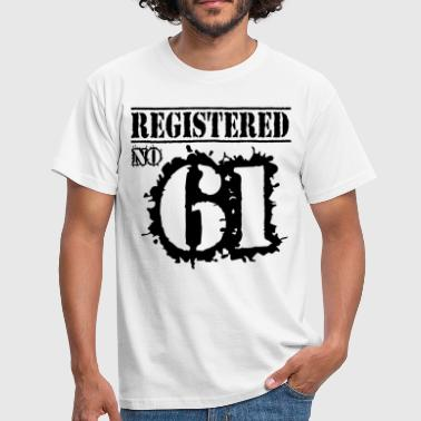 Registered No 61 - 55th Birthday - Men's T-Shirt