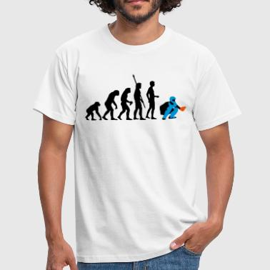 evolution_baseball_catcher_3c - Männer T-Shirt