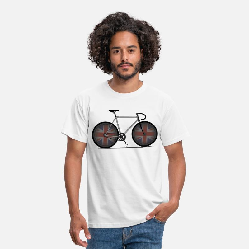 Cycling T-Shirts - British Cycling is Brilliant - Men's T-Shirt white