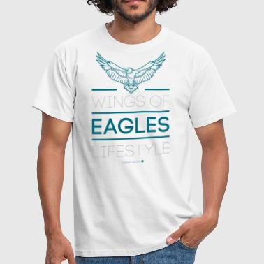 Wings Eagles Lifestyle Jt4Christ Christian T-shirt - Maglietta da uomo