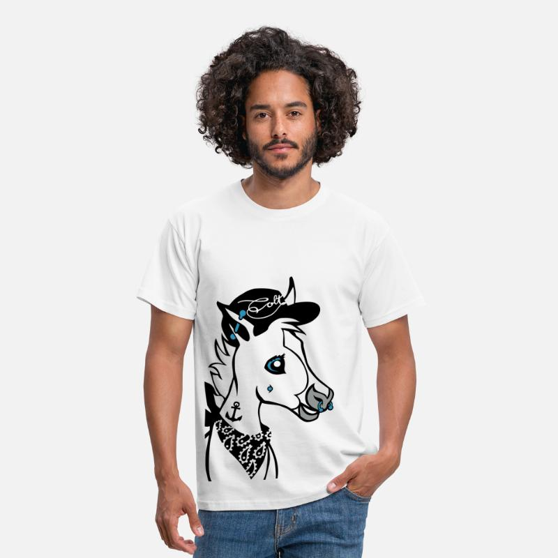 Hat T-Shirts - Pierced Colt - Men's T-Shirt white