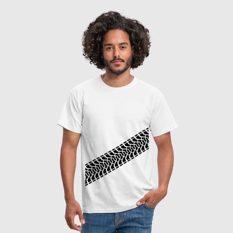 Tire footprint, tire gauge, tire tread (Diagonal) - T-shirt herr