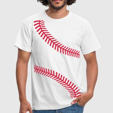 Baseball Baseball seams - Men's T-Shirt