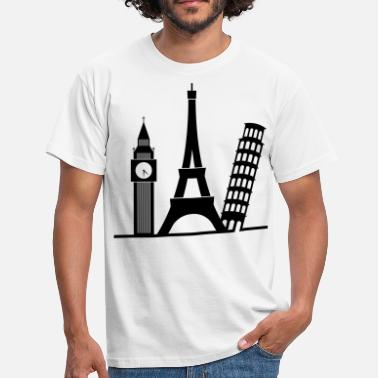 Ben Europe / London / Paris / Pisa - Men's T-Shirt
