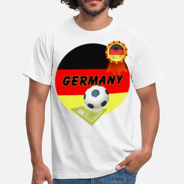 Football Pitch Germany Football Team supporter pitch &  Rosette - Men's T-Shirt