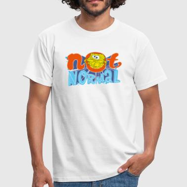 Hommes Tee Shirt Bob l'éponge 'Not Normal' - T-shirt Homme