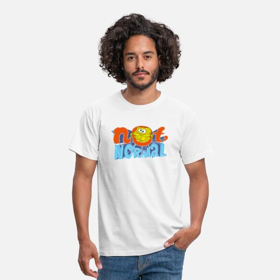 Spongebob T-Shirts - Mens' Shirt SpongeBob 'Not Normal' - Männer T-Shirt Weiß