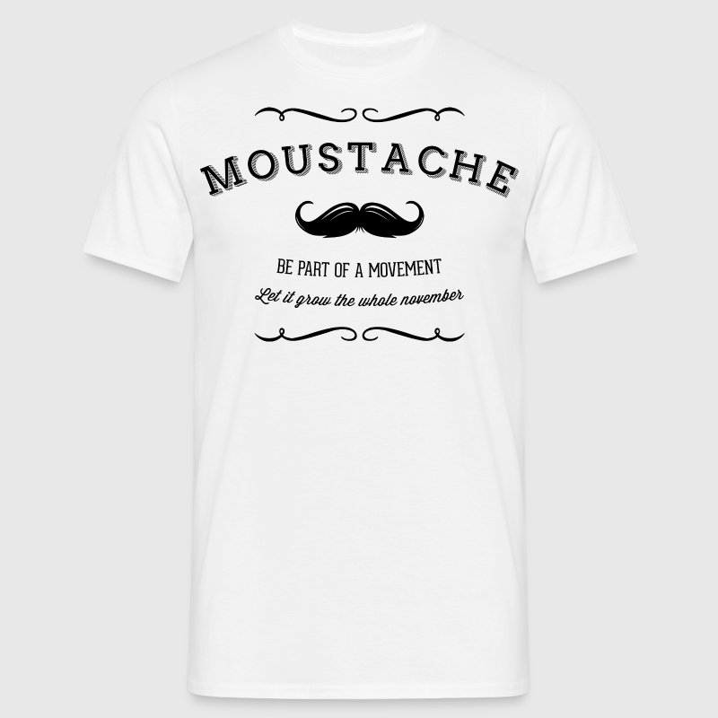November Moustache Movement - Männer T-Shirt