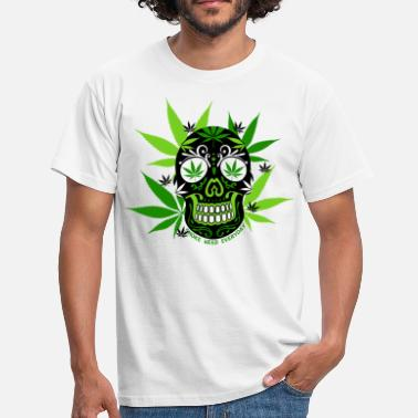 Weed skull cana - T-shirt Homme