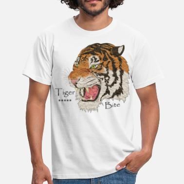 Requin Bite Tigre Bite T-Shirt Cadeau Animal - T-shirt Homme
