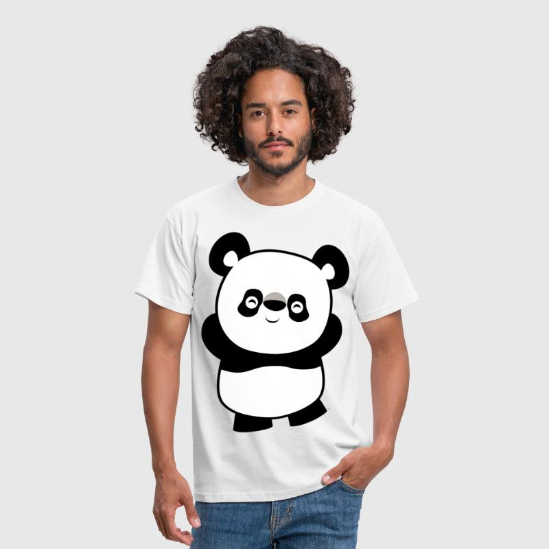 Cute Mischievous Cartoon  Panda by Cheerful Madness!! - Men's T-Shirt