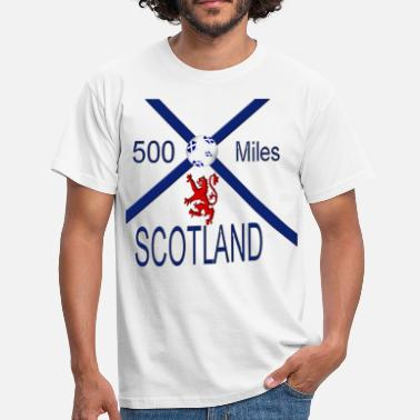 Fan Mile Scotland 500 miles football - Men's T-Shirt