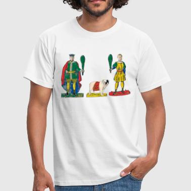 Fante, Cavallo and King with sticks - Men's T-Shirt