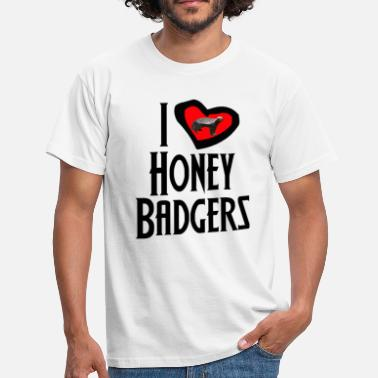 I Love Honey I Love Honey Badgers - Men's T-Shirt