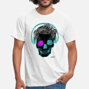 Headphones skull headphones - Men's T-Shirt