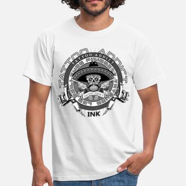 Inked Tattoo mexican skull - T-shirt Homme