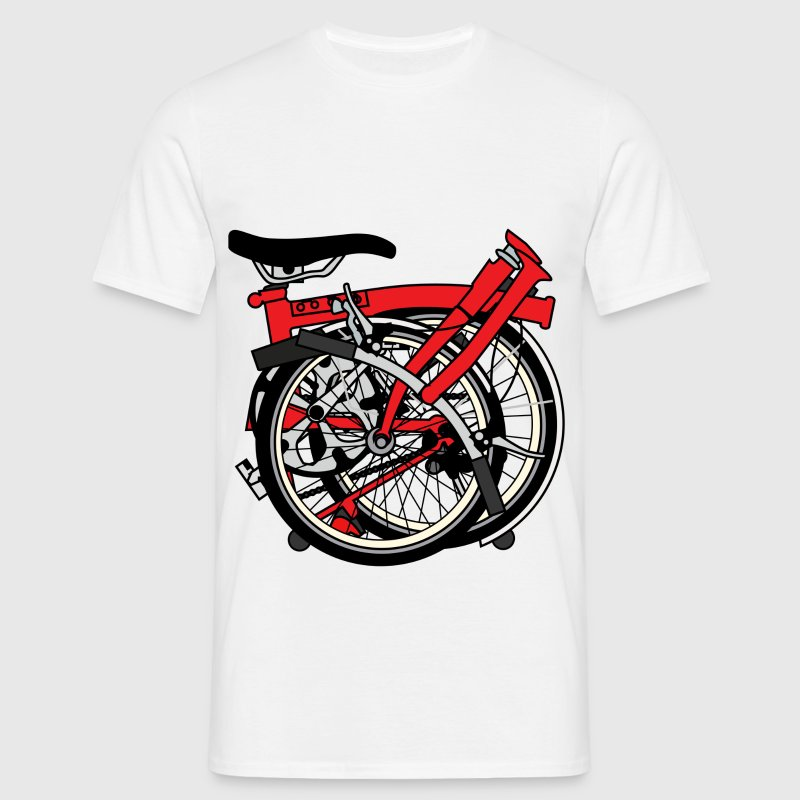 Brompton Bicycle ready to be transported. - Men's T-Shirt
