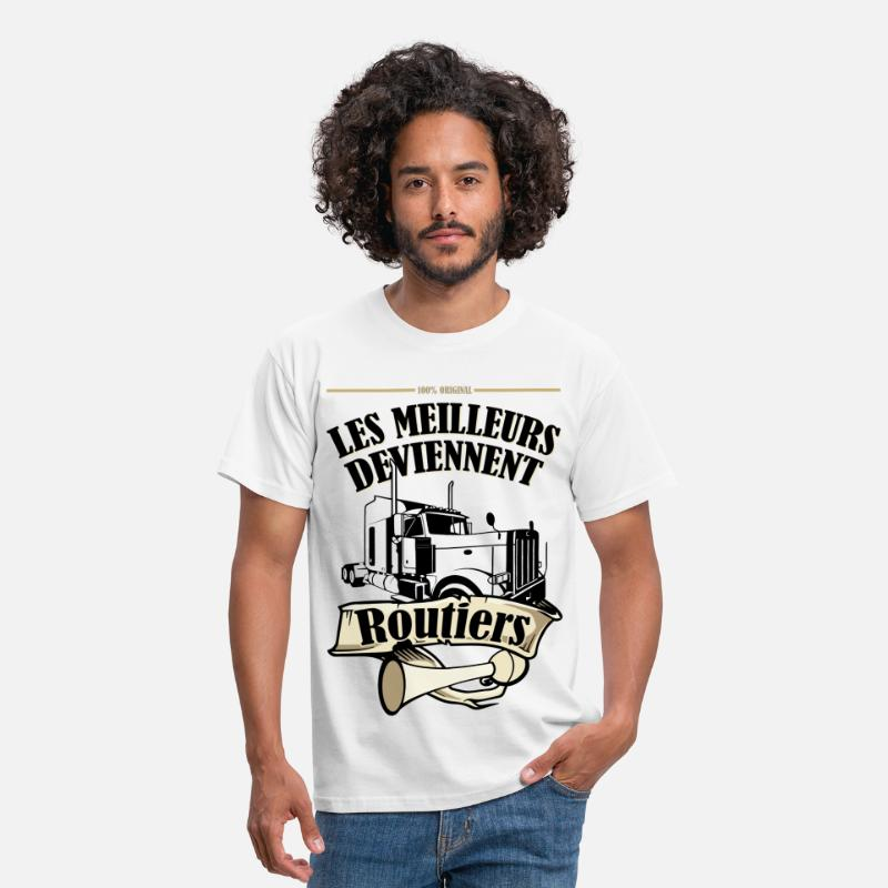 Chauffeur Routier T-shirts - Routiers - T-shirt Standard Homme blanc