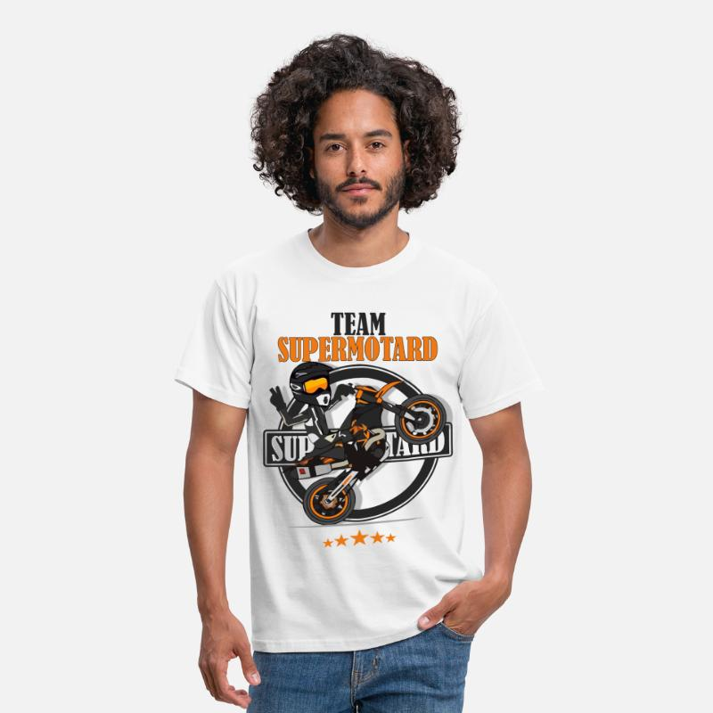 Supermotard T-shirts - Team supermotard - T-shirt Homme blanc