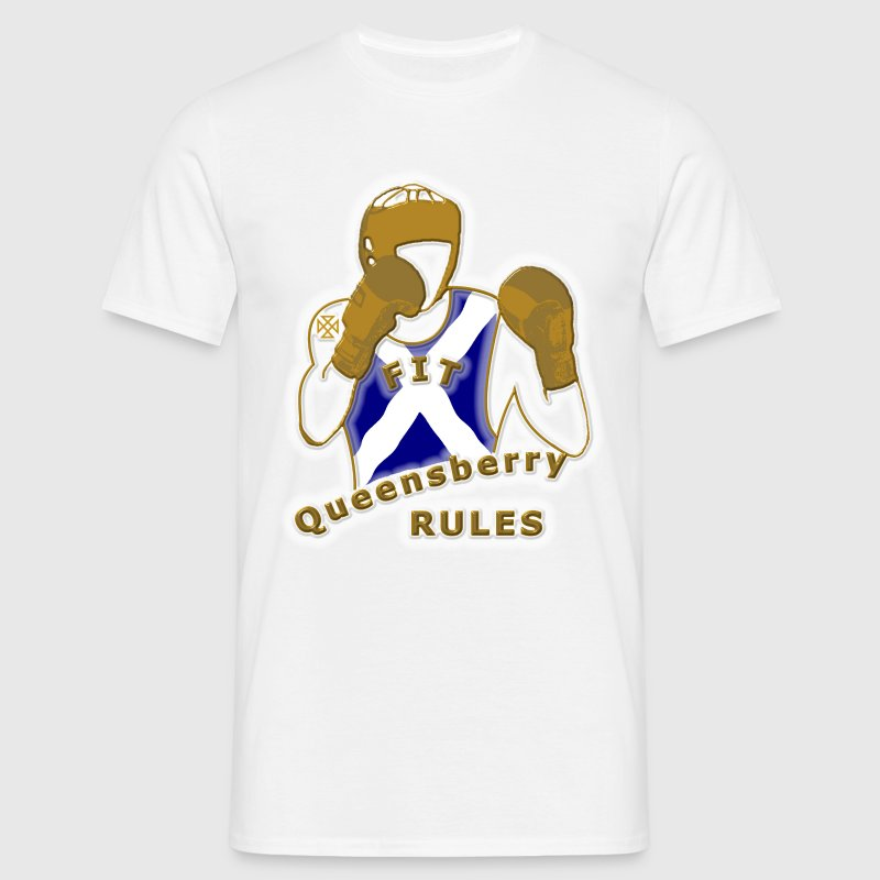 boxing queensberry scotland design - Men's T-Shirt