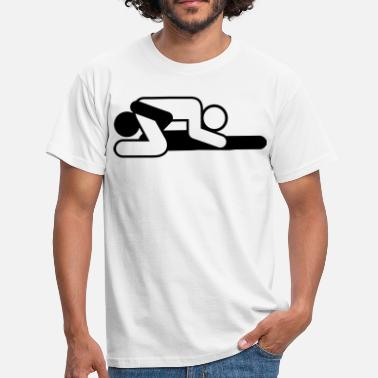 Sixties Symbols A couple in 69 position - Men's T-Shirt