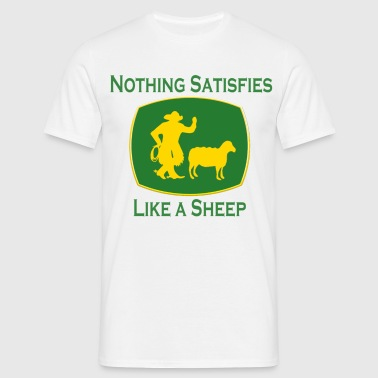 Nothing Satisfies Like A Sheep - Men's T-Shirt