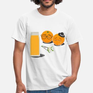 Funny Orange orange juice funeral gift idea - Men's T-Shirt