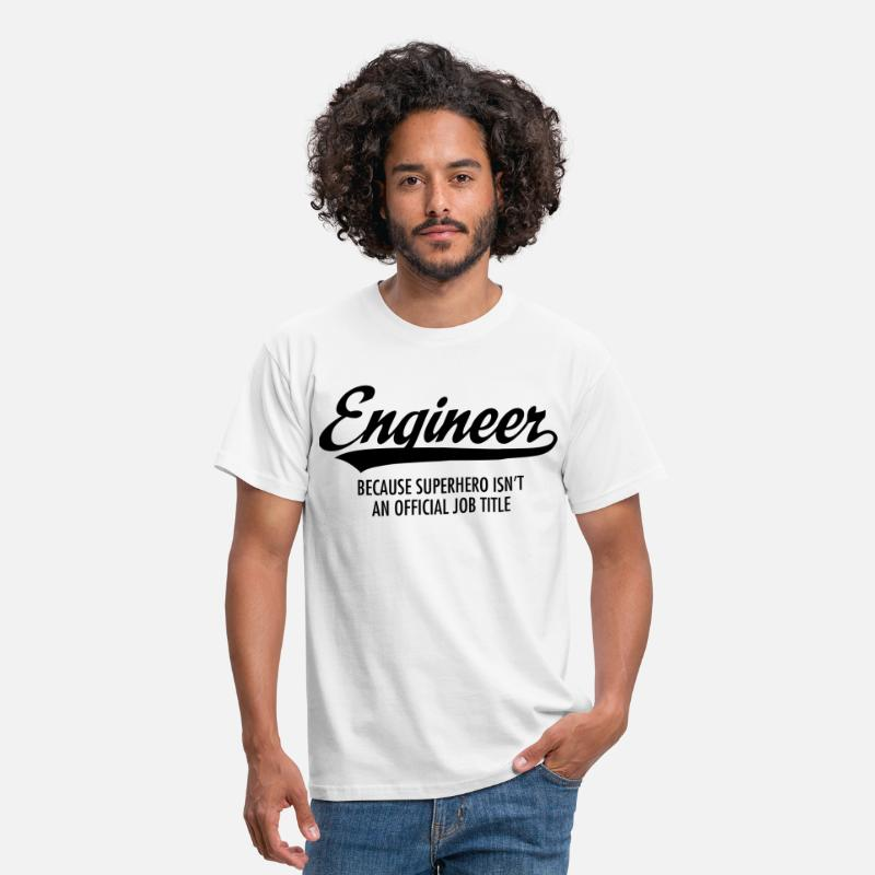 Superheroes T-Shirts - Engineer - Superhero - Men's T-Shirt white