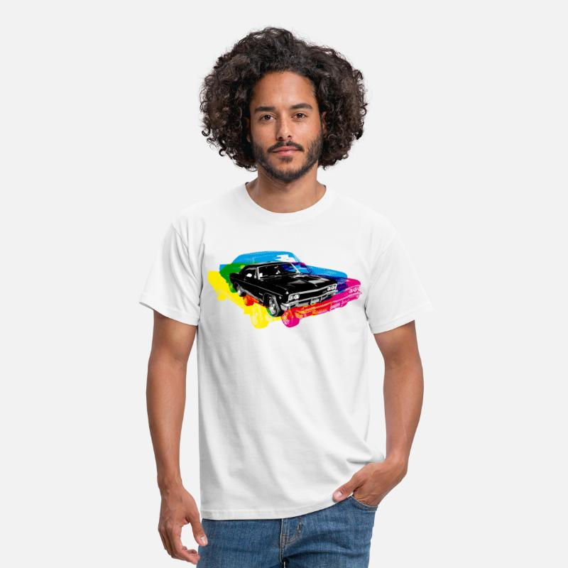 Muscle T-Shirts - Muscle Car - Retro - CMYK - Men's T-Shirt white