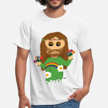 Flower Power Hippie - Mannen T-shirt