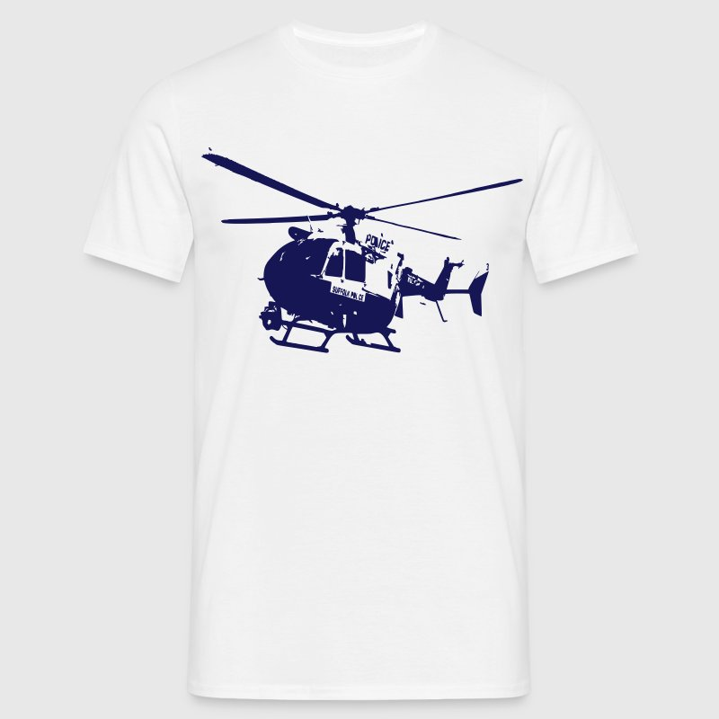 helicoptere ec 145 police type dragon - T-shirt Homme