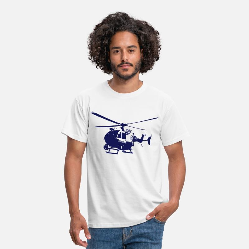 Dragon T-Shirts - Police helicopters EC145 - Men's T-Shirt white