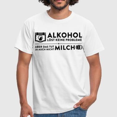 Alcohol does not solve any problems - Men's T-Shirt