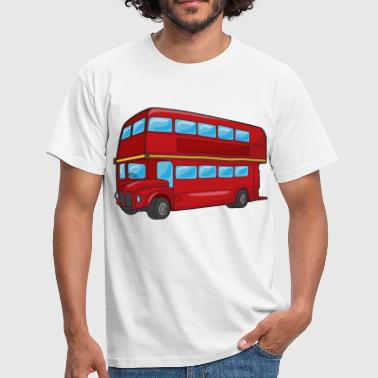 Bus Red Double Decker Bus - Men's T-Shirt