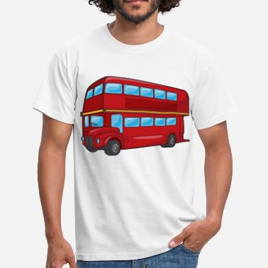 Double Decker Bus Red Double Decker Bus - Men's T-Shirt