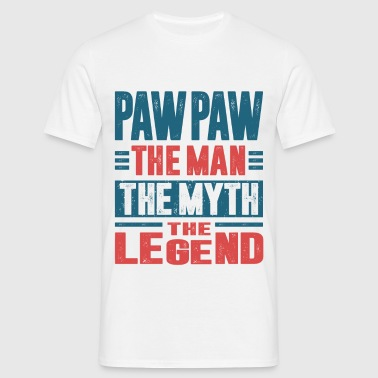 Paw Paw The Man The Myth - Men's T-Shirt