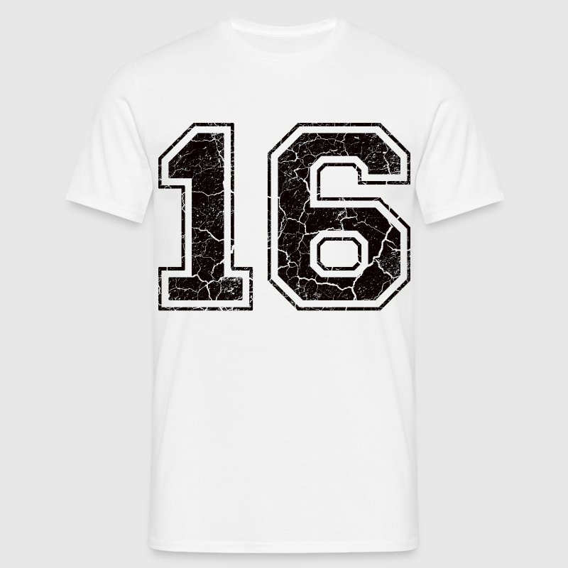 Number 16 in the used look - Men's T-Shirt