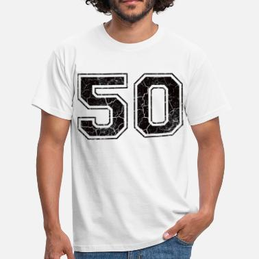 Looks 50s Number 50 in the grunge look - Men's T-Shirt