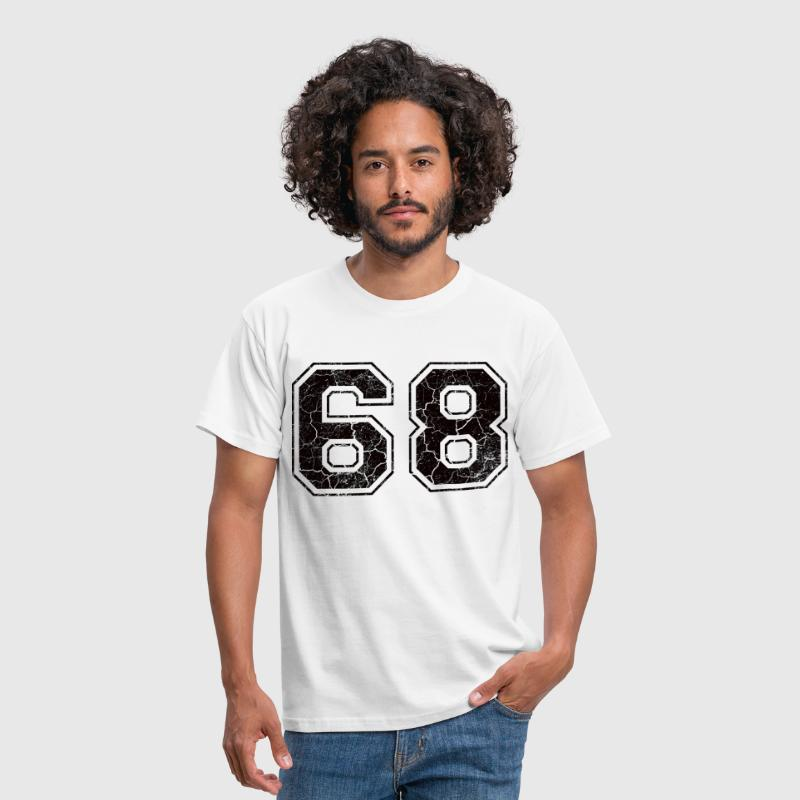 Number 68 in the grunge look - Men's T-Shirt