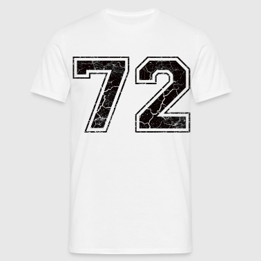 Number 72 in the grunge look - Men's T-Shirt