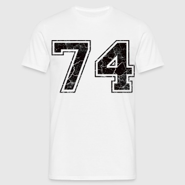 Number 74 in the grunge look - Men's T-Shirt