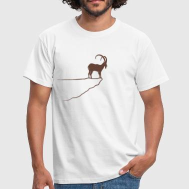 ibex capricorn alpine the alps bavaria mountains - Men's T-Shirt