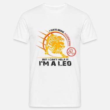 Sternzeichen Löwe Eigenschaften Männer Premium T-Shirt - Weiß