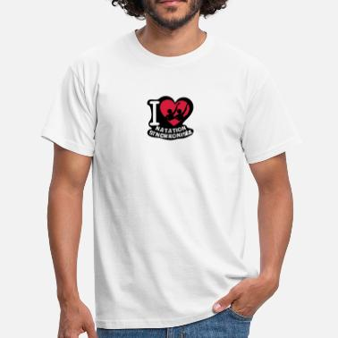 Natation Synchronise love natation synchronisee coeur1 - T-shirt Homme