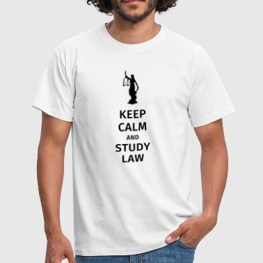 keep calm and study law - T-shirt Homme
