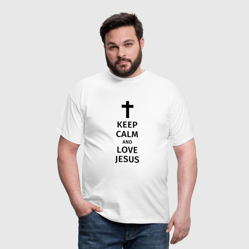 keep calm and love jesus - Männer T-Shirt