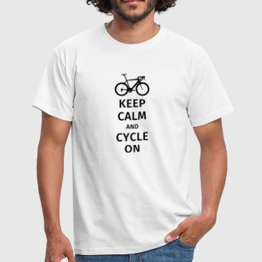 keep calm and cycle on - Maglietta da uomo