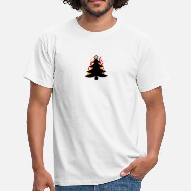 Flames burning tree - Men's T-Shirt